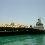 Barge Loaded for Paradise Island Nassau