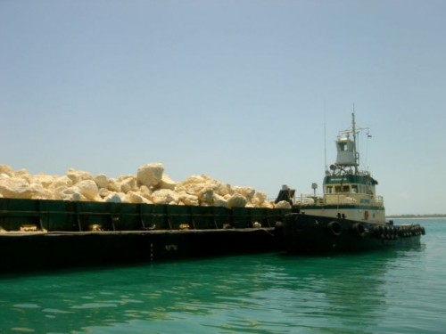 Barge Loaded for Paradise Island Nassau