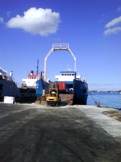 Loading in Eleuthera