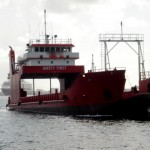 Barge In Nassau Harbour